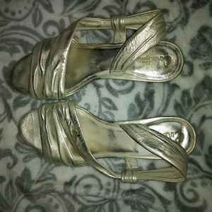 Cole Haan Silver Open Toe Sandals